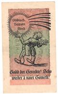 WW2 Germany Nazi Godd Der Gerechte Propaganda FORGERY Overprint On Genuine 20,000 Mark 1923 Banknote EF+ - Other
