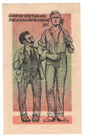 WW2 Germany Nazi Propaganda FORGERY Overprint On Genuine 20,000 Mark 1923 Banknote VF+ - Other