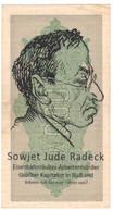 WW2 Germany Nazi Sowjet Radeck Propaganda FORGERY Overprint On Genuine 1000 Mark 1923 Banknote VF+ - Other
