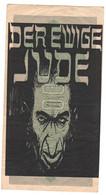 WW2 Germany Nazi Der Ewige Ju.. Propaganda FORGERY Overprint On Genuine 1000 Mark 1923 Banknote VF - Other