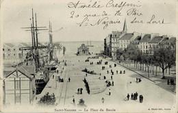 Saint-Nazaire La Place Du Bassin Circulée En 1905 - Saint Nazaire