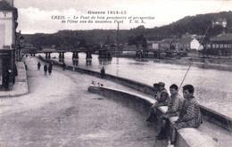 60 - Oise -  CREIL - Le Pont De Bois Provisoire Et Perspective De L Oise Vus Du Nouveau Pont - Creil