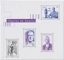 """FRANCE / 2020 / Y&T N° 5446/5449 ** Bloc Ou F5446 ** (Feuillet """"De Gaulle) X 1 - Ongebruikt"""