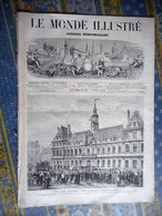 LE MONDE ILLUSTRE 16/11/1872 REIMS CAMP CHALONS GRAND MOURMELON PARIS BALLON TUILERIES ARTS SCULPTURE COUTANT PIRODON - 1850 - 1899