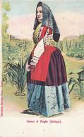 PLOAGHE-SASSARI-COSTUME TIPICO-CARTOLINA  NON VIAGGIATA 1900-1904 - Sassari