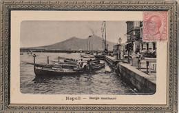 NAPOLI-BORGO MARINARO-CARTOLINA VERA FOTOGRAFIA-IMMAGINE IN RILIEVO CON CORNICE A QUADRO- VIAGGIATA IL 1-12-1920 - Napoli (Naples)