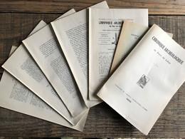 CHRONIQUE ARCHEOLOGIQUE DU PAYS DE LIEGE 1950 REGIONALISME Barazet Cuir Doré Naivagne Berneau Thours Coqfontaine Ans - Belgique