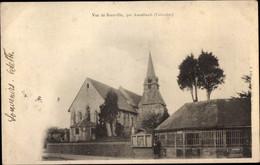 CPA Branville Calvados, Ortspartie, Häuser, Kirchturm - Otros Municipios
