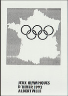 France Postcard 1992 Albertville Olympic Games - Mint (G128-47) - Winter 1992: Albertville