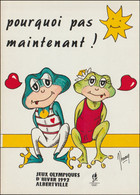 France Postcard 1992 Albertville Olympic Games  - Mint (G128-46) - Winter 1992: Albertville
