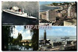 CPM Le Havre Le France Porte Oceane Et Cap De La Heve Square Saint Joseph Entree Du Port Et L&#39egl - Zonder Classificatie