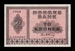 Noruega Norway 2 Kroner 1950 Pick 16b SC UNC - Norway