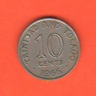 Trinidad & Tobago 10 Cents 1966 Nikel Coin - Trinidad & Tobago