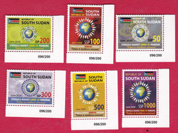 SOUTH SUDAN New 2020 Stamps Issue Health Workers Fighting Covid-19 Pandemic Set W/ Sheet Number SOUDAN Du Sud Südsudan - South Sudan