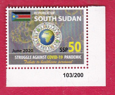 SOUTH SUDAN 50 SSP Stamp #103 New 2020 Stamp Issue Health Workers Fighting Covid-19 Pandemic SOUDAN Du Sud Südsudan - South Sudan