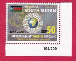 SOUTH SUDAN 50 SSP Stamp #104 New 2020 Stamp Issue Health Workers Fighting Covid-19 Pandemic SOUDAN Du Sud Südsudan - South Sudan