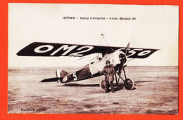 SAM008 ⭐ ISTRES Camp Aviation Avion Militaire MORANE-SAULNIER 35 Immatriculé OM2-550 Cpavion 1920s TRANCHAND Cantinier - Istres