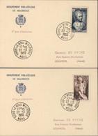 Premier Jour D'émission YT 876 + 877 Croix Rouge CAD Sous Le Bois Maubeuge Nord 22 12 1950 Carte Groupement Philatélique - 1950-1959
