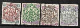 Afrique Du Sud Compagnie Britannique N° 28; 30 ; 31 Et 34 Oblitérés   B/TB  Soldé   Le Moins Cher Du Site  ! ! ! - Transvaal (1870-1909)