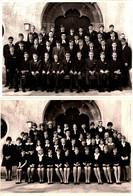2 Grandes Photos Originales Communiants & Communiantes En Groupe Non Mélangés. Religion Protestante Vers 1960/70 - Anonieme Personen