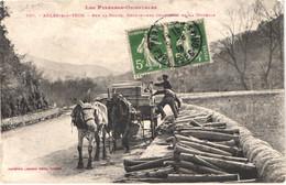 FR66 ARLES SUR TECH - Labouche 530 - Charretiers Chargeant La Douelle - Attelage - Gros Plan - Animée - Otros Municipios