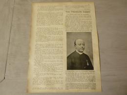 """Origineel Knipsel ( 3730 ) Uit Tijdschrift  """" Ons Volk """"  1911 : Pastoor Edmond Denys   Roeselare  Lichtervelde - Ohne Zuordnung"""