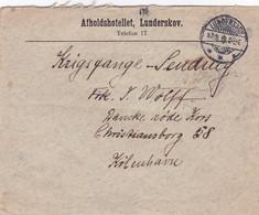383-14Brief Lunderskov-Kopenhagen 7-5-1918 - Ganzsachen