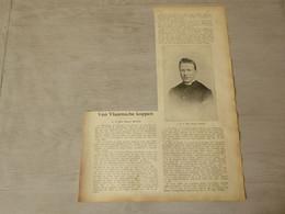 """Origineel Knipsel ( 3731 ) Uit Tijdschrift  """" Ons Volk """"  1911 : Pastoor Bouten   Ramsel Bij Aarschot - Unclassified"""