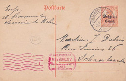 383-91  Postkarte 7-11-1917 Willebroek-Schaerbeeck. Stempel: Willebroek-7.11.17. 4-5N* Belgien + 723 - Other Covers