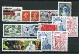 RC 20690 FRANCE 2014 LOT DE TIMBRES EN EURO A LA FACIALE NEUFS ** - Nuevos