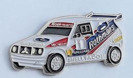 V458 Pin's RALLYE DAKAR MITSUBISHI Pub Shell Tabac Rothmans Facom Michelin  Achat Immédiat - Mitsubishi