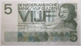 Pays-Bas - 5 Gulden - 1966 - PICK 90a - TTB+ - 5 Gulden