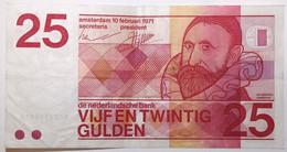 Pays-Bas - 25 Gulden - 1971 - PICK 92a - TTB - 25 Gulden
