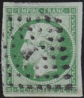 France    .   Y&T    .    12  (2 Scans)         .     O   .     Oblitéré    .     /   .   Cancelled - 1853-1860 Napoleon III