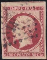 France    .   Y&T    .    17  (2 Scans)        .     O   .     Oblitéré    .     /   .   Cancelled - 1853-1860 Napoleon III