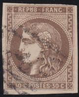 France    .   Y&T    .   47  (2 Scans)       .     O   .     Oblitéré    .     /   .   Cancelled - 1870 Uitgave Van Bordeaux