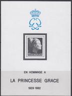 MONACO  Block 22, Postfrisch **, Tod Von Fürstin Gracia Patricia, 1983 - Blocks & Sheetlets