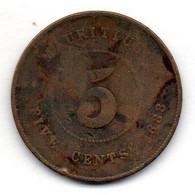 MAURITIUS, 5 Cents, Bronze, Year 1888, KM #9 - Mauritius