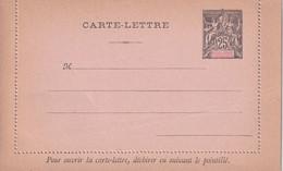 NOUVELLE-CALEDONIE   ENTIER POSTAL/GANZSACHE/POSTAL STATIONARY  CARTE-  LETTRE - Enteros Postales