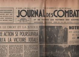 JOURNAL DES COMBATTANTS 22 09 1962 - LEGION VOSGIENNE - ESSAIS NUCLEAIRES - AMBULANCE HADFIELD-SPEARS - ARC DE TRIOMPHE - 1950 - Today