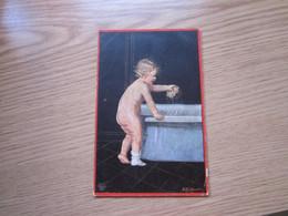 A Child In The Bathroom  Old Postcards  Postes Militares WW1 - Humorvolle Karten