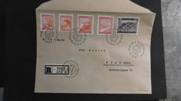 Österreich Mi. 839/840,842,844+850 R Brief SST Tag Der Marke 13.12.1947 Wien Ortspost - 1945-60 Brieven