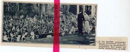 Orig. Knipsel Coupure Tijdschrift Magazine - Antwerpen Rivierenhof - Openluchtfeest Tvv De Werklozen - 1932 - Sin Clasificación