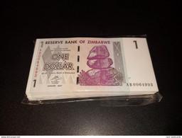 LOT 10 PCS - ZIMBABWE 1 DOLLAR 2007. UNC - Zimbabwe