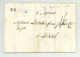 BRIVE Brives Pour Laval 1771 LeClerc & Co - 1701-1800: Precursors XVIII
