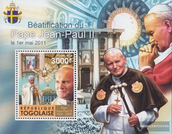 Togo Block624 (complete Issue) Unmounted Mint / Never Hinged 2011 Pope Johannes Paul II. - Togo (1960-...)