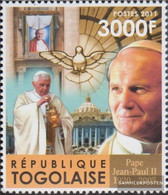 Togo 4073 (complete Issue) Unmounted Mint / Never Hinged 2011 Pope Johannes Paul II. - Togo (1960-...)