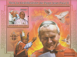 Togo Block604 (complete Issue) Unmounted Mint / Never Hinged 2011 Pope Johannes Paul II. - Togo (1960-...)