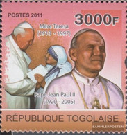 Togo 3973 (complete Issue) Unmounted Mint / Never Hinged 2011 Pope Johannes Paul II. - Togo (1960-...)
