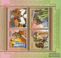 Togo 3969-3972 Sheetlet (complete Issue) Unmounted Mint / Never Hinged 2011 Pope Johannes Paul II. - Togo (1960-...)